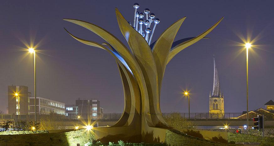 Growth Sculpture Horns bridge Roundabout