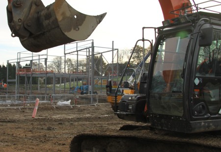 Queens Park Sports Centre on site