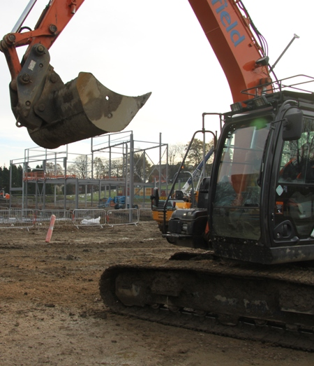 Queens Park Sports Centre on site