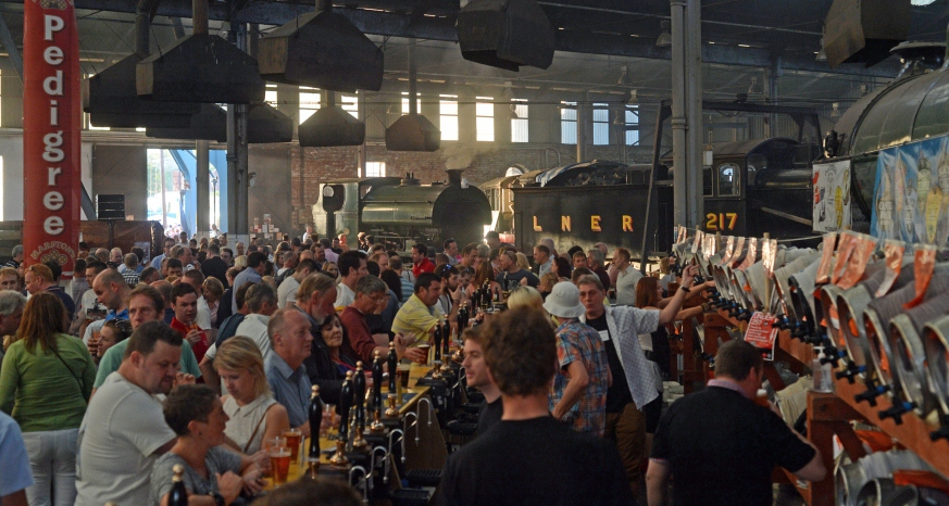 Rail Ale Festival at Barrow Hill Roundhouse (Image courtesy of Paul Bigland)