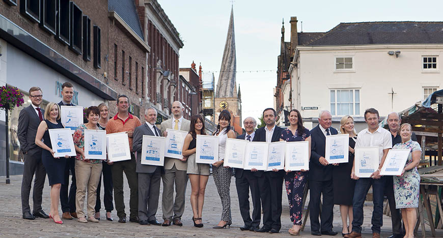 Chesterfield Retail Awards 2014, held in the Market Hall Assembly Rooms.