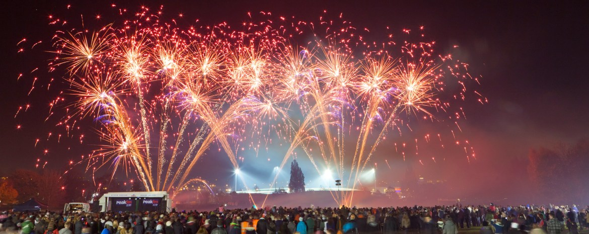 Chesterfield Events Stand Road Fireworks