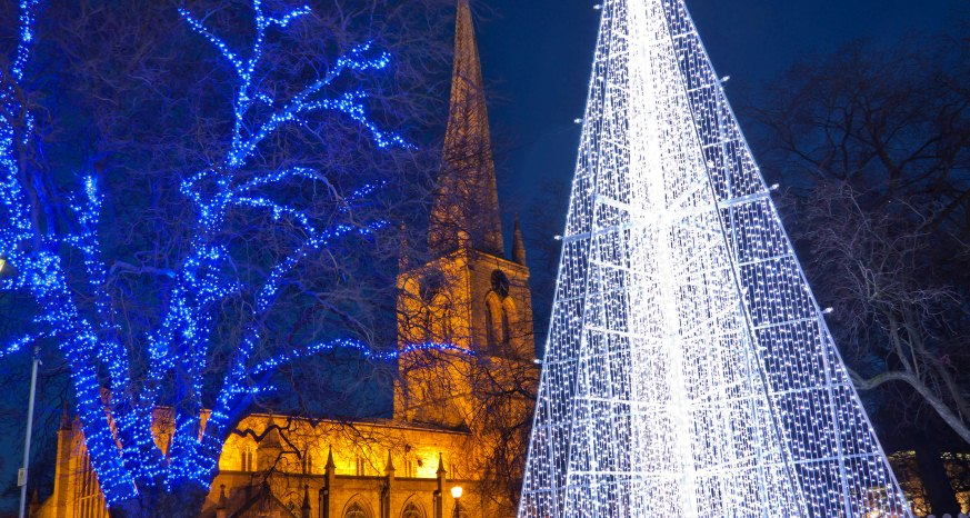 Chesterfield Christmas Market and Lights Switch on