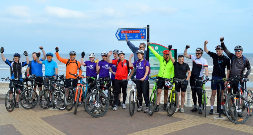 Shorts Chartered Accountants cycle challenge raises over £7,500 for Lymphoma charity