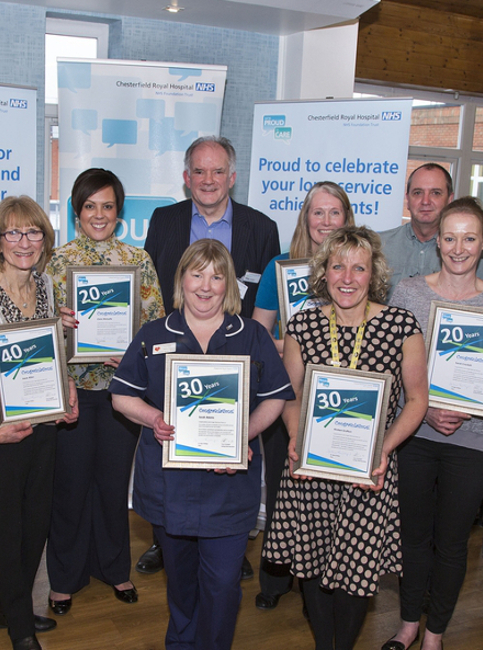 Chesterfield Royal Hospital Long Service Event March 2016
