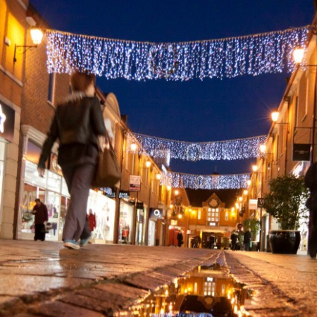 Christmas shopping in Chesterfield