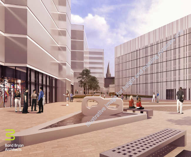 Chesterfield Waterside - Basin Square massing illustration 2
