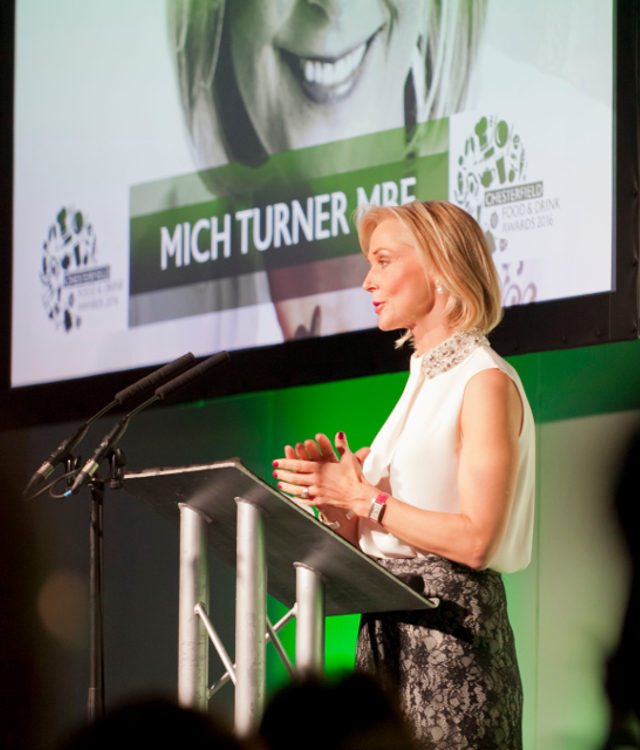 Mich Turner MBE Chesterfield Food and Drink Awards