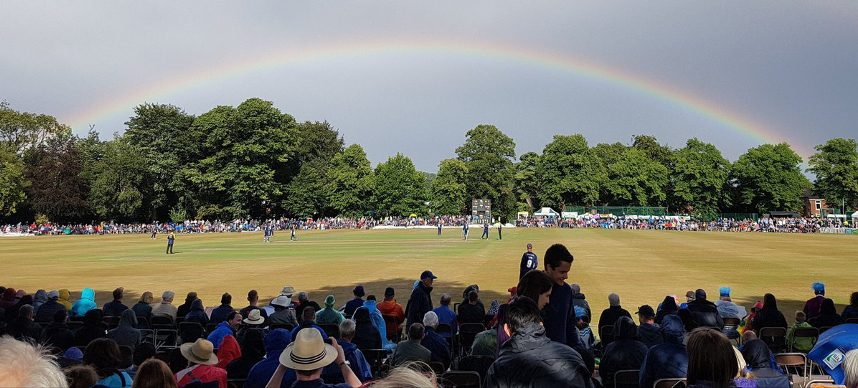 Rainbow at Chesterfield Festival of Cricket
