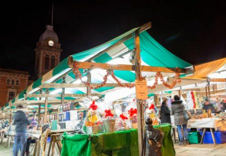 Chesterfield Market at Christmas