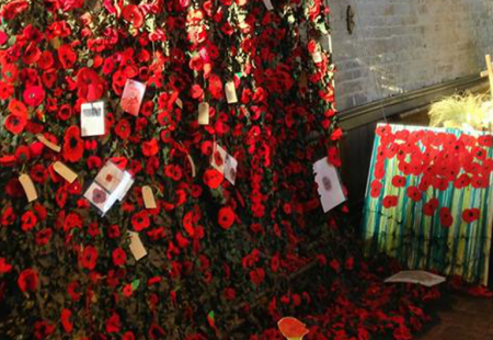 Poppy Commemoration at the Crooked Spire