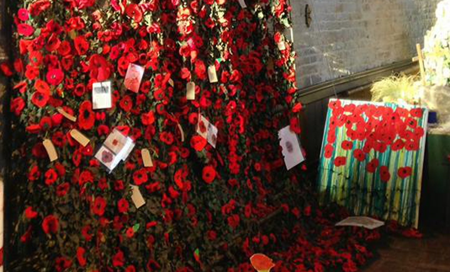 Poppy Display At The Crooked Spire Destination