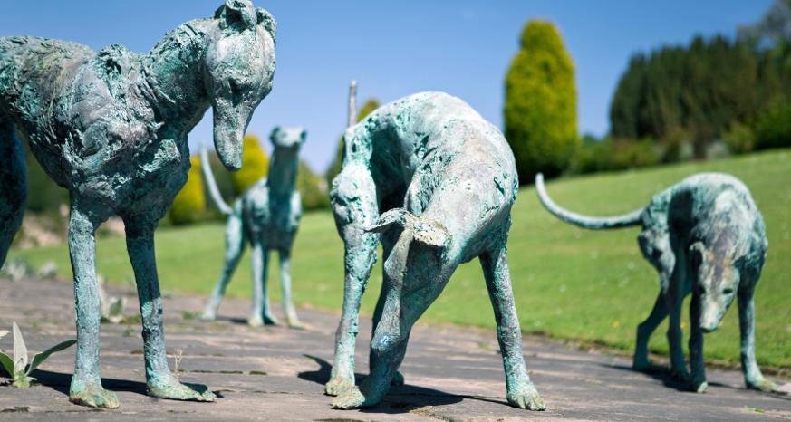 dog Chatsworth House exhibition