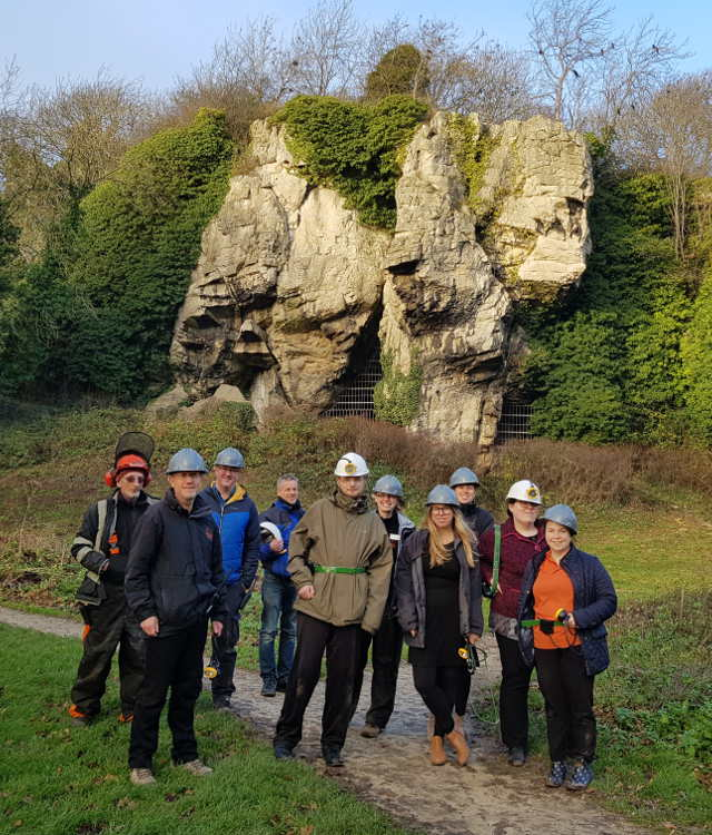 Creswell Crags Derbyshire witches marks