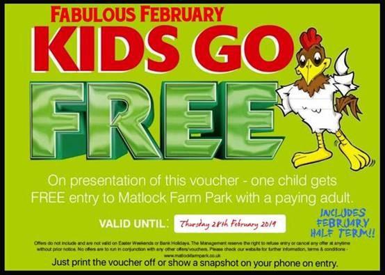 matlock farm park february half term voucher