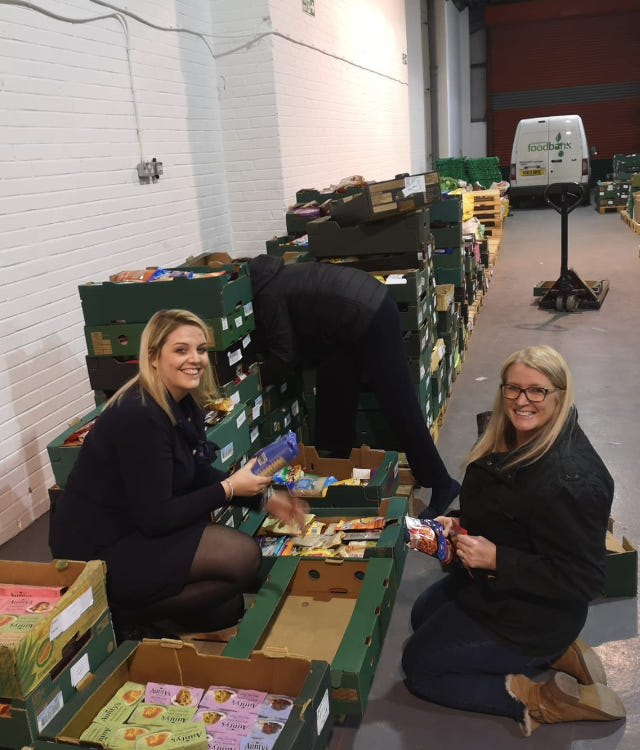 specsavers matlock chesterfield food bank