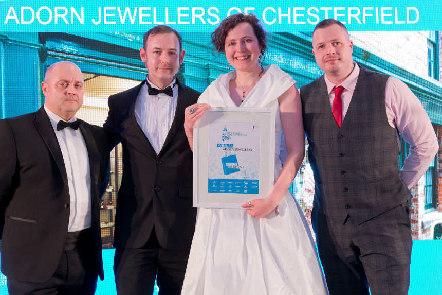 Adorn Jewellers scoops top award at 2019 Chesterfield Retail Awards