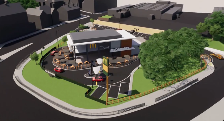 McDonalds West Bars Artists Impression