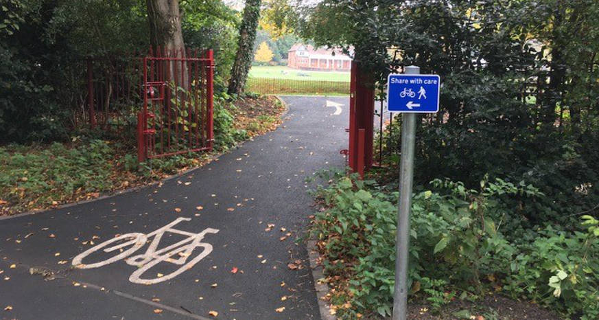Cycling in Queens Park - Get on your bike in Chesterfield