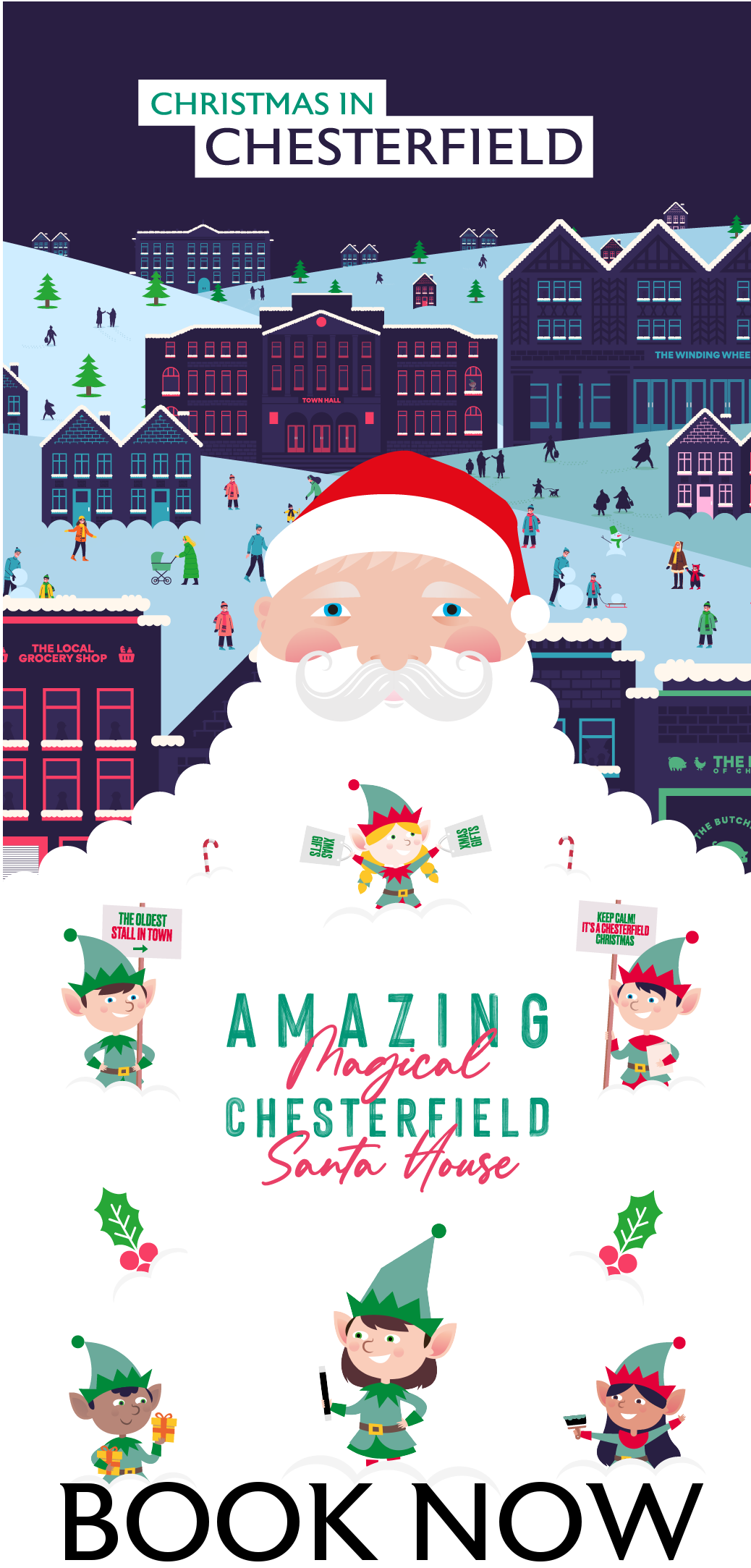 Amazing Magical Chesterfield Santa House Book Now